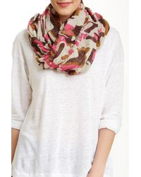 Blue Pacific - Oversized Brushed Camo Scarf - Lyst