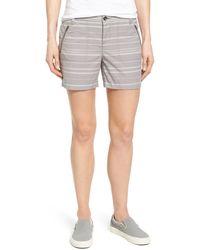 Caslon - 'addison' Zip Pocket Shorts (5 Inch) (petite) - Lyst