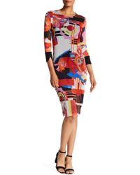 Petit Pois - Printed Crew Dress - Lyst