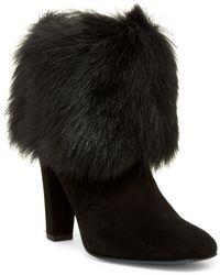 Delman - Lexie Genuine Calf Hair Cuff Boot - Lyst
