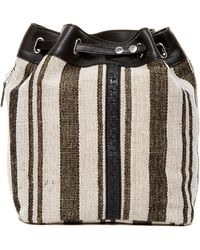 Kelsi Dagger Brooklyn - Dusen Striped Canvas Drawstring Backpack - Lyst