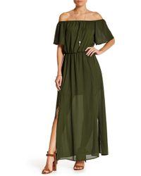 Peach Love California - Short Ruffle Sleeve Dress - Lyst