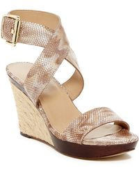 Vaneli - Dandy Snake Embossed Wedge Sandal - Lyst