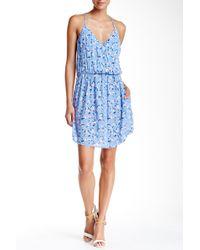 Mimi Chica - Surplice Racerback Floral Dress - Lyst