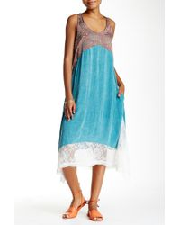 Scrapbook - Lace Trim Colorblock Trapeze Dress - Lyst