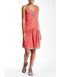 Scrapbook - Sleeveless Printed Trapeze Dress - Lyst