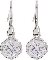 Diane von Furstenberg - Round Cz Drop Earrings - Lyst
