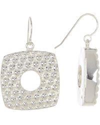 Simon Sebbag - Sterling Silver Square Cut Drop Earrings - Lyst