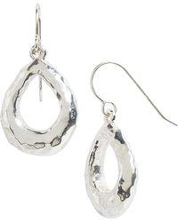 Simon Sebbag - Sterling Silver Mini Hammered Open Teardrop Earrings - Lyst
