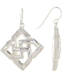 Simon Sebbag - Sterling Silver Openwork Drop Earrings - Lyst