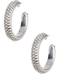 Simon Sebbag - Sterling Silver Prosecco Oval Hoop Earrings - Lyst