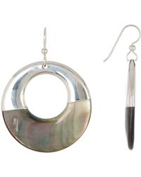 Simon Sebbag - Sterling Silver Mother Of Pearl Circle Earrings - Lyst