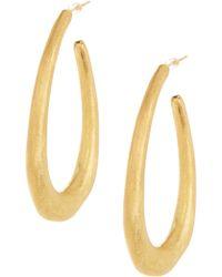 Adami & Martucci - 18k Gold Vermeil Linear Hoop Earrings - Lyst