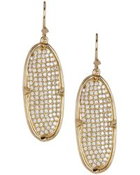 Melinda Maria - Orion Pave Cz Oval Drop Earrings - Lyst
