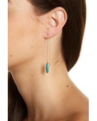 Melinda Maria - Jasmine Turquoise Chain Ear Threaders - Lyst