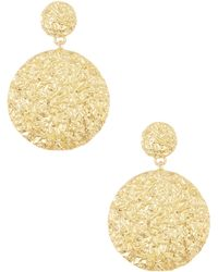 Adami & Martucci - 18k Gold Vermeil Large Disc Earrings - Lyst