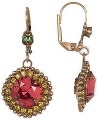 Sorrelli - Swarovski Crystal Accented Cushion Cut Drop Earrings - Lyst