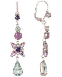 Sorrelli - Delicate Flower Crystal Drop Earrings - Lyst