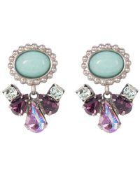 Sorrelli - Semi-precious Dangling Drop Stud Earrings - Lyst