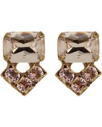 Sorrelli - Crystal Cluster Stud Earrings - Lyst