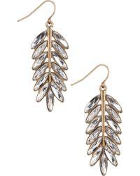 Sam Edelman - Large Feather Drop Earrings - Lyst