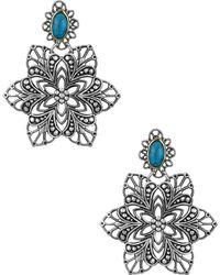Sam Edelman - Floral Chandelier Earrings - Lyst