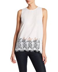 Three Dots - Torrey Button Back Tank - Lyst
