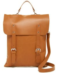 Enter # - Leather Convertible Messenger Tote - Lyst