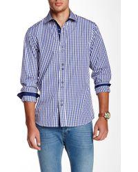 Emanuel Ungaro - Regular Fit Long Sleeves Gingham Print Shirt - Lyst
