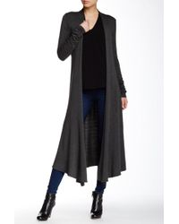 Riller & Fount - Long Sleeve Extra Long Cardigan - Lyst