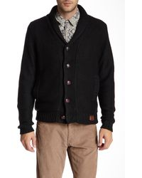 Weatherproof - Marled Knit Faux Shearling Cardigan - Lyst
