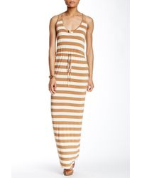 Fraiche By J - Striped Racerback Maxi Dress - Lyst