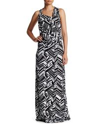 Fraiche By J - Art Deco Cowl Maxi Dress - Lyst