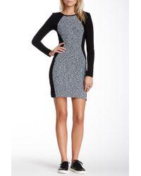 Fraiche By J - Solid Panel Bodycon Dress - Lyst