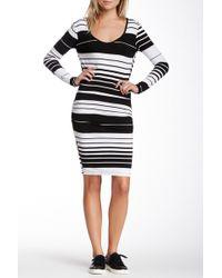 Fraiche By J - Long Sleeve Stripe Dress - Lyst