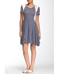 Fraiche By J - Striped A-line Dress - Lyst