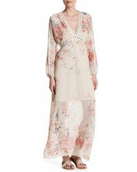 Fraiche By J - Floral Print Maxi Dress - Lyst