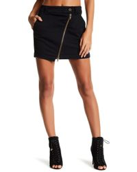 Fine by Superfine - Asymmetrical Zip Denim Mini Skirt - Lyst
