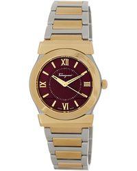 Ferragamo - Women's Vega Purple Dial Bracelet Watch - Lyst