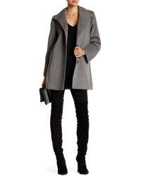 Fleurette - Stand Collar Wool Blend Car Coat - Lyst
