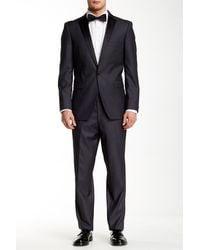 U.S. POLO ASSN. - Grey Sharkskin One Button Notch Lapel Modern Fit Tuxedo - Lyst