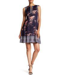 Maggy London - Palm Print Dress - Lyst
