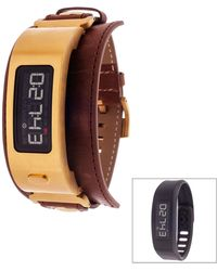 Garmin - Unisex Vivofit 2 Brown Leather Fitness Watch - Lyst