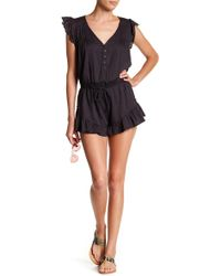 Rip Curl - Lively Ruffle Romper - Lyst