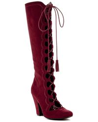 MIA - Evelina Lace High Boot - Lyst