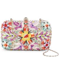 G-Lish - Beaded & Woven Starburst Hard Case Clutch - Lyst