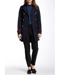 Vince Camuto - Military Trench Coat (petite & Regular) - Lyst