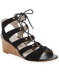 Hinge - 'basin' Ghillie Lace Wedge Sandal (women) - Lyst