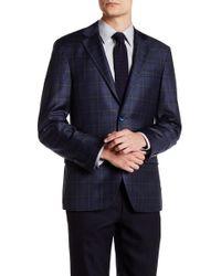 Spurr By Simon Spurr - Logan Dual Color Plaid Slim Fit Wool Sport Coat - Lyst
