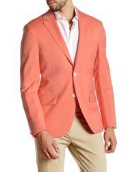 Spurr By Simon Spurr - Coral Two Button Notch Lapel Wool Sport Coat - Lyst
